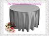A Dozen 70'' Round Satin SILVER Tablecloths for Weddings Tablecloth Set Table Cloth Round Tablecloths Wedding Table Linens