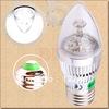 40pcs 3W 3x1W Pure White E27 Home Candle Bulb LED Light Lamp 85-265V 110V 220V 230V