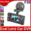F30 Dual Lens Car DVR With 2.7 inch TFT LCD Vehicle Camera 8 IR Night Vision 120 Degrees Wide Angle Car Black Box