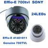 "Genuine 1/3"" Sony CCD Effio-E 700tvl 24leds IR indoor HD 960H Security CCTV dome camera surveillance camera free shipping"