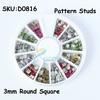 10PCS/LOT Leopard Pattern Color Metal Studs Round Square Metal Studs 3D Nail Art Decorations Acrylic Nail DIY SKU:D0816X