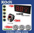 LED Display Wireless Nurse Call Medical Emergency Service Call System w nurse call button help drip K-402NR+200C+D3 DHL free