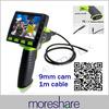 "Portable 3.5"" LCD Video Endoscope 2GB LED 9mm Inspection Camera Borescope Endoscope Camera 1M Snake Pipe"