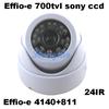 Effio-E 700tvl  1/3'' Sony CCD  4140+811 CCD board 24leds IR indoor HD 960H Security CCTV indoor dome camera surveillance camera