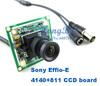 Hot Promotion 700 TVL 3.6mm Lens Color Sony CCD Effio Board CCTV Camera Board for CCTV Security