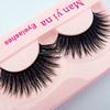 New 10 Pairs Makeup Thick Long Purple False Eyelashes Soft Fake Eye Lash Beauty Tool F33 Wholesale