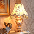 2013 Fashion vintage gold quality fabric bed lighting lamps table lamp a88