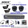 900TVL Outdoor Day Night IR Camera 4CH CCTV Security Camera System 900TVL 4CH D1 DVR DIY Kit Color Video Surveillance System