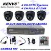 4CH CCTV Security Camera System 900TVL Outdoor Day Night IR Camera   4CH D1 DVR  DIY Kit Color Video Surveillance System