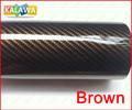"""1 Roll Brown 1.27*30M (50*1181"""", 127*3000cm) 2D carbon fiber vinyl / 2D carbon fibre sticker / 2D car sticker FREESHIPPING TTT"""