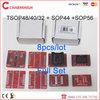 100% original adapter TSOP48/40/32 + sop44 +SOP56, total 8pcs/lot, high quality. For TL866CS / TL866A programmer