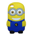 Super Cute 3D Cartoon Despicable ME 2 Minions Silicone Case For Iphone 4 4S 5 5 5G Free Shipping