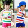 2014 summer boys clothing girls clothing child vest shorts set tz-0582 K3777