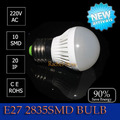 2pcs/lot give us a chance will return you a surprise led E27 2835SMD bulb 4w 5W 6W 7W 220V cool/warm whiteFree shipping
