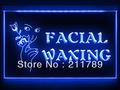 BA076 B OPEN Facial Waxing Shop Displays LED Light Sign