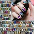 100 Colors MIXED GLITZY Nail Art Transfer Nail Foil Sticker Wrap Nail Tip Decoration Easy Adhesive Craft Shine Foils Acrylic Gel