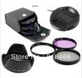 52mm Flower Lens Hood +UV cpl fld bag Filter +Lens Cap for Nikon18-55 Nikon 50/1.8Dfor Canon 50/1.8r of 52 DSLR