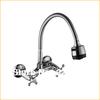 Copper Sink Chrome Dual Handle Dual Spraying Kitchen Faucet Handles Bathroom Mixer Water Tap Wall Torneira Cozinha Grifos Cocina