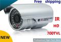 Free shipping CCTV 700 TVL Sony CCD High line IR LED Security camera 3mm -12mm Optional outdoor Surveillance Camera