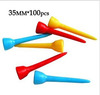 Free Shipping! New 100Pcs+35mm Mixed Color Plastic Golf TEES