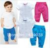 SH308 Retail 2013 Hot selling baby clothes set Summer children clothing set (t-shirt+pants) 2 pcs Cotton kid suit free shipping