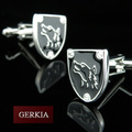 Wolf stainless steel cufflinks nail sleeve male french shirt