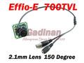 Free Shipping to RU! 1/3 Sony 700TVL(4140+811) Effio-e CCD 2.1mm Lens Wide Angle CCTV Board Camera, HD, 3D NR, WDR