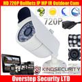 Cheapest  4pcs  HD 720P Bulllets IP Megapixel  IR Outdoor waterproof  CCTV Surveillance IP cameras, wodoodporne kamery CCTV IP