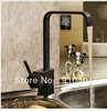 Free Shipping Wholesale And Retail Promotion Oil Rubbed Bronze Deck Mounted Brass Kitchen Faucet Single Handle Sink Mixer Tap
