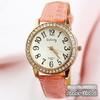 Electronic 2014 New Relogio Feminino Fashions Relojes De Marca Leather Strap Watch Clock Women Dress Watches Coupon Single Clock