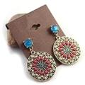 2013 New Bohemia Disc Vintage Multicolor Earrings Factory Wholesale