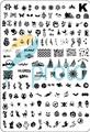 10pcs Medium SIZE XL Stamp Image Plate Stamping Halloween&Santa Design XMAS Plate Nail Art DIY Image Template SKU:C3222X