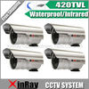 Free Shipping 4pcs/lot hot selling 420TVL Waterproof CCTV Camera,Infrared Day Night Home Security Camera,XR-IC420-6W