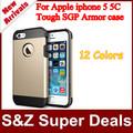1pcs Singapore post Free Shipping SPIGEN TOUGH SGP Slim Armor Hard Plastic+TPU case Cover for Apple iphone 5 5C