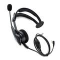 C1030A New Black XQF PTT MIC High-power speaker anti-noise anti-wrestling Headphone Headset for Radio KENWOOD BAOFENG