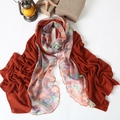free shipping Cabinet ultra thin 2013 women's yarn long scarf patchwork