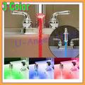 Free shipping 30pcs/lot NEW Temperature Sensor 3 Color RGB Glow Shower LED Light Water Faucet Tap