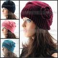 Free shipping 5pcs/Lot Big size Cover Ear Headband Knit Crochet Ear Warmer Muff Women Hairband Flower