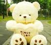 2013 low price 45cm white Teddy Bear, Lovers Big bear Arms Stuffed Animals Toys Plush Doll ,I LOVE YOU bear