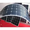 130w High efficiency ultrathin 3mm semi flexible solar panel for roof grid tie