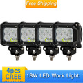 4x 18W CREE LED Work Light Car Offroad Lighting Vehicle Jeep Truck Mine Boat 6x3W Off Road Driving Working Light Refit Roof Lamp