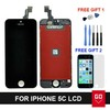 100% NEW Full LCD Replacement For Iphone 5C Digitizer Touch Screen Assembly Black / white color + Tools Free Shipping