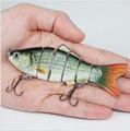 2pcs/lot 6 Segments 17g/10.2cm Herring Swimbait Wobbler Real Life-Like Fishing Lure,Minnow Hard bait Fishing Tackle, Free ship