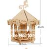 2015 New Design Children Educational Gift popular handmade carousel toy 3D diy wooden puzzle toys WJ0124