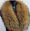 Free Shipping 100cm*18cm Large True Raccoon Fur collar Real Genuine Collar Scarf Shawl Wrap Great