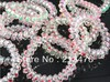 20pcs white transparent hearts telephone line hair ring elastic hair accessory