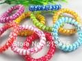 20pcs Mix Printing hearts telephone line hair ring elastic hair accessory