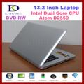KINGDEL 13 inch laptop with DVD Intel D2500 dual core 1.86Ghz, Built-in DVD-Burner 2G/320G WIFI, Webcam, windows 7 notebook