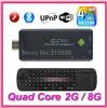 QC802 MK809III Mini PC TV BOX Andriod 4.4.2 RAM 2GB ROM 8GB Quad-core RK3188 Bluetooth Wifi HDMI + With RC12 Keboard mouse
