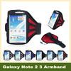 2 Piece Premium Outdoor Mesh Gym Running Sport Strap Armband bracadeira Holder Belt Bag Case Cover for Samsung Note 2 3